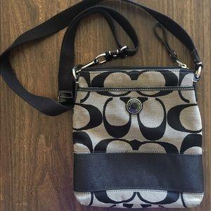 Coach black classic crossbody purse